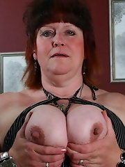 This big mama loves riding her dildo