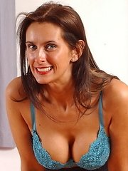 Hot mom Angie loves to show her panties