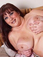This big breasted mama loves to play alone