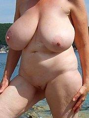 Nudist granny with killer tits