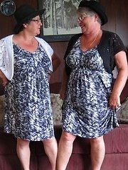 Girdlegoddess and Mistress Sue In our matching sexy sun dresses So naughty and so nice we are That Mistress has a surprise under her dress for me Oh m