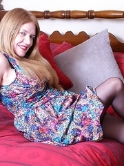 Horny British housewife fooling around with her lover
