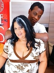 Big mature woman goes interracial with her black lover