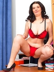 This naughty housewife loves to play by herself