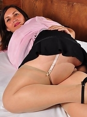 Horny Latin housewife getting ready to play