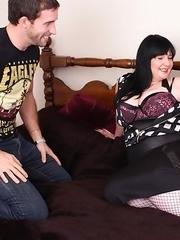 Big breasted mature slut having sex