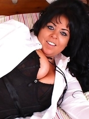 Big breasted housewife having sex with herself