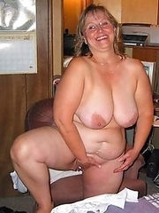 Real mature wives, grannies posing naked