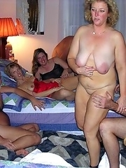 Mature girlfriends shows their nude pussies and breasts