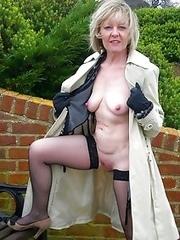 Slutty dressed mature sluts in a nature