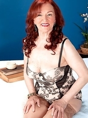 Katherine Merlot, a 71-year-old redhead from Romania