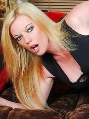 Hot Blonde MILF getting wet and wild