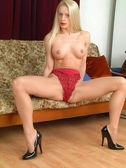 hot blonde housewife getting wet and wild