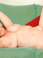 Kinky housewife playing alone